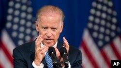 美國副總統拜登星期四在喬治·華盛頓大學就美國的亞太政策發表演講。