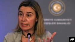 FILE - European Union foreign policy chief Federica Mogherini.