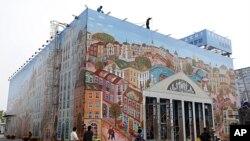 图为2010年4月上海世博会期间的白俄罗斯馆外观