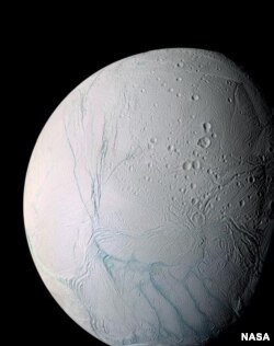 Enceladus, one of moons of Saturn, as seen by NASA's Cassini spacecraft. (Photo: NASA)