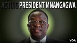 Zimbabwean Vice President Emmerson Mnangagwa. (Graphic by Ntungamili Nkomo)
