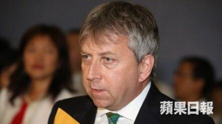 港大校长马斐森教授(苹果日报图片)