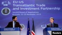 Pregovarači EU i SAD. Ignjasio Garsija Bersero i Den Mulejni