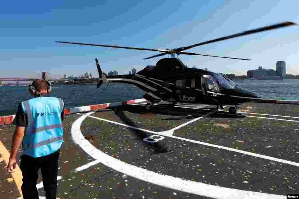 Nyu-York - Aeroporta tələsənlər üçün Uber vertolyotu