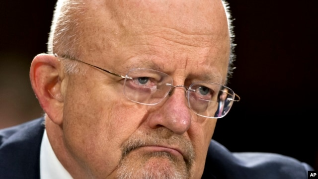 FILE - National Intelligence Director James Clapper testifies on Capitol Hill, April 18, 2013, before the Senate Armed Services Committee hearing on the current and future threats to national security.