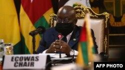 Rais Nana Akufo-Addo, rais wa Ghana akiongoza mazungumzo ya Mali mjini Accra