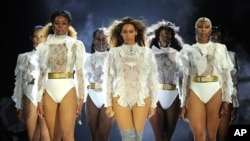 Beyonce performs during the Formation World Tour at Marlins Park on April 27, 2016, in Miami, Florida.