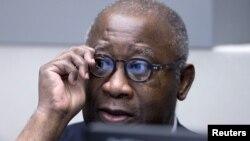 Mantan Presiden Pantai GadingLaurent Gbagbodi pengadilan Mahkamah Kejahatan Internasional (ICC) di Den Haag, Belanda (28/1).