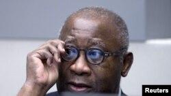 Laurent Gbagbo devant la CPI à La Haye, le 28 janvier 2016.