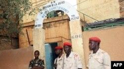 Entrée de la prison de Niamey, 1er juin 2013