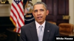 President Barack Obama delivers his weekly speech, April 5, 2014.