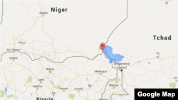 Map showing the location of Bosso, near the Niger-Nigeria border