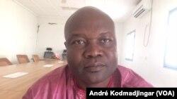 Kram Abel membre de la majorité présidentielle et du CNDP, le 26 fevrier 2019. (VOA/André Kodmadjingar)