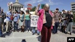 Участники движения «Захвати Уолл-стрит» в Нэшвилле