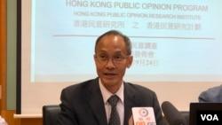 香港民意研究計劃研究所主席及行政總裁鍾庭耀 (美國之音李逸華拍攝)