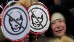 ادامه اعتراضات خيابانی به حکومت پوتين در زمستان سرد روسيه