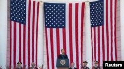 Tổng thống Obama đọc diễn văn tại Nghĩa trang Quốc gia Arlington ở Virginia, 26/5/14