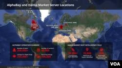 """""""阿爾法灣""""(AlphaBay)與""""漢薩市場""""(Hansa Market)的用戶人數 (資料圖片)"""