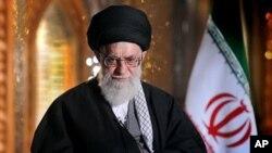 Верховный лидер Ирана Аятолла Али Хаменеи. Тегеран. 20 марта 2013 г.