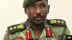 Sudanese army spokesman Sawarmi Khaled Saad speaks to reporters about the clashes between the Sudanese army and the Sudan People's Liberation Army (SPLA) in Blue Nile.