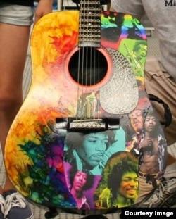 Jimi Hendrix Tribute Guitar (Courtesy Victor Litz Music Center)