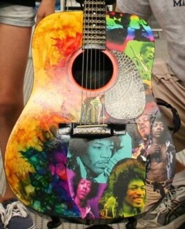 Jimi Hendrix Tribute Guitar (Courtesy Victor Litz Music Center)