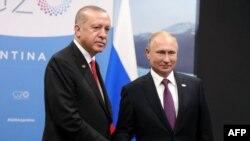Ba Perezida Recep Tayyip Erdogan wa Turikiya na Vladimir Putin w'Uburusiya.