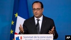 El presidente Francois Hollande rechaza cualquier amenaza a la seguridad nacional de Francia, incluyendo el supuesto de espionaje de EE.UU.