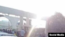 تجمع اعتراضی کارگران نیشکر هفت تپه