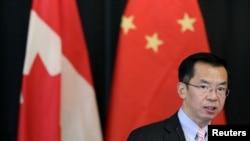 中国驻加拿大大使卢沙野2018年12月14日出席一个活动(路透社)