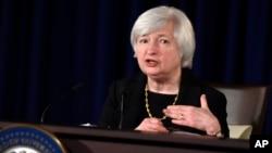 Janet Yellen, présidente de la Réserve fédérale, qui vient d'annoncer la fin de son programme de rachats d'actifs