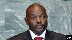 Pierre Nkurunziza, président burundais dont un haut gradé de l'armée a annoncé la destitution mercredi.