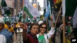 台灣人社團在紐約市時報廣場再鼓動加入聯合國