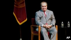U.S. Supreme Court Justice Antonin Scalia seen here in Oct. 20, 2015 file photo. (AP Photo/Jim Mone, File)