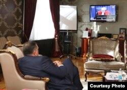 Milorad Dodik, predsjednik RS, prati izricanje presude Ratku Mladiću. Foto: Ured predsjednika RS