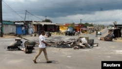The barricaded streets of Libreville, Gabon, have nearly emptied following two days of deadly protest over presidential election results. Soldiers were deployed Friday.