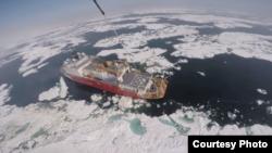 北冰洋的水面正在扩展(美国海警队资料照片)