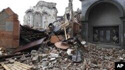 San Carlo, après un tremblement de terre, nord de l'Italie, le 21 mai 2012.