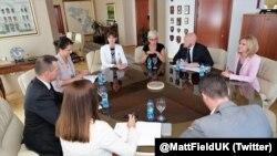 Ambasador Field na sastanku u Ministarstvu unutrašnjih poslova RS u Banjaluci.