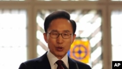 유럽 순방 중인 이명박 한국 대통령