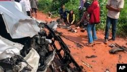 Wata motar da ta yi hatsari a Cambodia