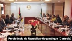 Encontro entre presidentes Filipe Nyusi e Cyril Ramaphosa em Maputo, 2019