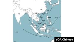 南中國海航道地圖