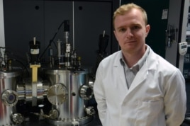 University of Liverpool physics professor Jon Major has demonstrated a simple method of applying magnesium chloride in solar cell manufacturing. (University of Liverpool)