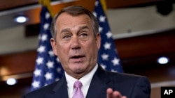 House Speaker John Boehner of Ohio during a news conference on Capitol Hill in Washington, July 11, 2013.