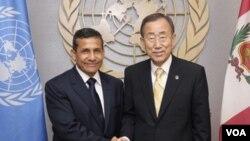 Ollanta Humala señaló que el camino de la paz y la reconciliación en Latinoamérica tenía que pasar por poner fin al embargo a Cuba.
