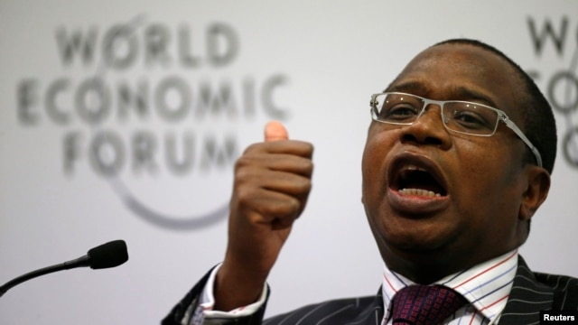 Mthuli Ncube, chief economist and vice president of the African Development Bank, speaks during session of the World Economic Forum on Africa, Cape Town, May 9, 2013.
