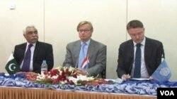 اقوام متحدہ اور بلوچستان پولیس کے سربراہ معاہدے کے دستخط کی تقریب کے موقع پر