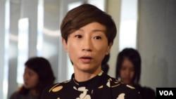 香港公民黨立法會議員陳淑莊 (美國之音湯惠芸 拍攝)