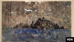 정창모 화백의 작품 '새로운 날이면 너의 생각 간절하다. 독도 너는 우리 땅이리니' (2009).